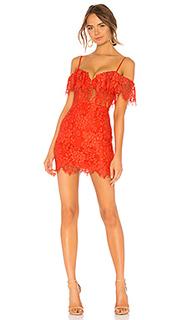 Мини платье с открытыми плечами allie - NBD