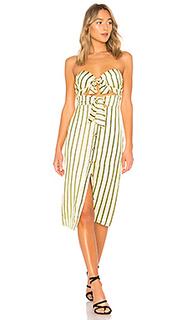 Миди-платье без бретелек colette - House of Harlow 1960