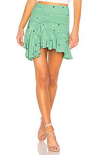 Мини-юбка с асимметрическим подолом arabella - MAJORELLE