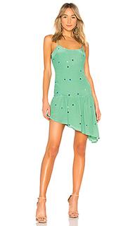 Мини платье с асимметричным подолом piper - MAJORELLE