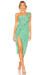 Миди платье на одно плечо tali - MAJORELLE