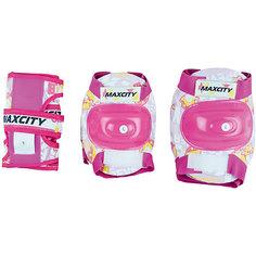 Комплект защиты MaxCity Teddy розовый