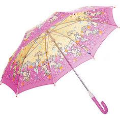 """Зонт-трость Zest """"Зайчики"""" со светодиодами, розовый"""