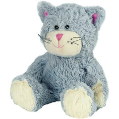 Мягкая игрушка грелка Warmies Кот, синий Intelex
