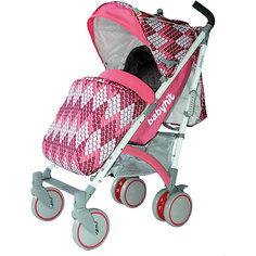 Коляска-трость BabyHit Rainbow Rhombus, розовый