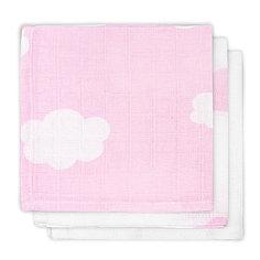 Салфетки для лица, 3шт, Clouds Pink (Розовые облака) Jollein