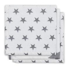 Салфетки для лица, 3шт, Little star grey (Серые звёзды) Jollein