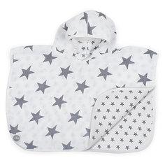 Муслиновое полотенце-пончо 45х60см, Little star grey (Серые звёзды) Jollein