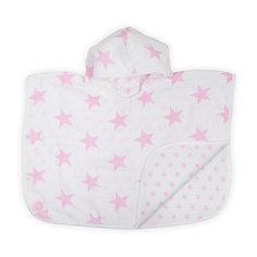 Муслиновое полотенце-пончо 45х60 см, Jollein, Little star pink