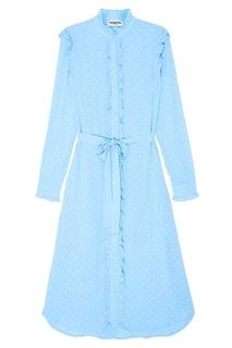 Голубое платье с оборками Essentiel Antwerp