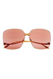 Полупрозрачные розовые очки Gucci