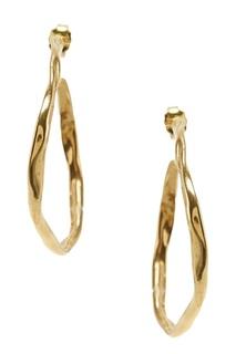 Позолоченные серьги-кольца Ringstone