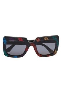 Квадратные очки с глиттером Gucci