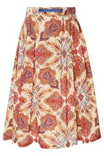 Льняная юбка с принтом Grunge John Orchestra. Explosion