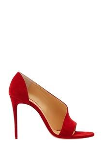 Красные замшевые туфли Phoebe 100 Christian Louboutin