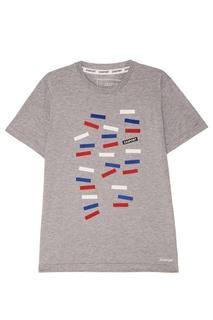Серая футболка с принтом Zasport