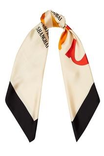 Шелковый платок с логотипом Gucci