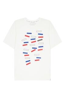 Белая футболка с принтом Zasport