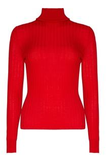 Красная водолазка из шерсти и шелка Gucci