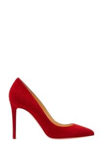 Красные замшевые туфли Pigalle 100 Christian Louboutin