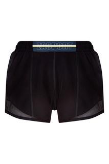Черные шорты с сеткой Zasport