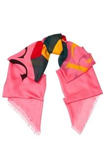 Розовый шарф с логотипом Gucci