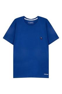 Хлопковая футболка синего цвета Zasport