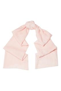 Розовый палантин из кашемира с кружевом Levveronika