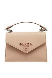Бежевая сумка из сафьяновой кожи Prada