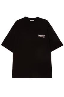 Черная футболка с логотипом Balenciaga