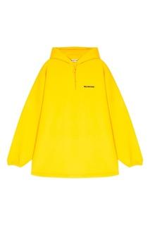 Желтое худи из хлопка Balenciaga