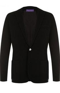 Однобортный пиджак из вискозы Ralph Lauren