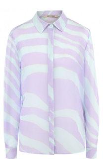 Шелковая блуза с принтом Roberto Cavalli