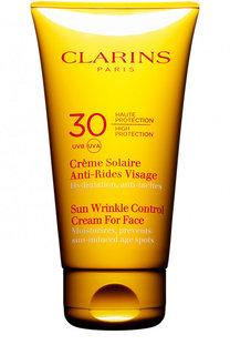 Солнцезащитный крем для лица Crème Solaire Anti-Rides Visage SPF 30 Clarins