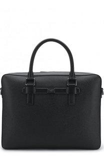 Кожаная сумка для ноутбука Mediterraneo с плечевым ремнем Dolce & Gabbana
