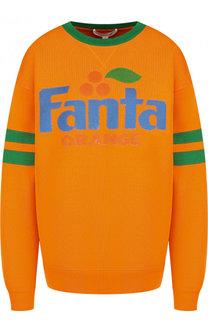 Пуловер с круглым вырезом и принтом Marc Jacobs