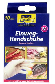 Одноразовые перчатки, 10 шт AQUALINE