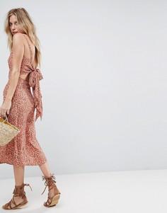 Платье-комбинация с цветочным принтом Faithfull - Розовый
