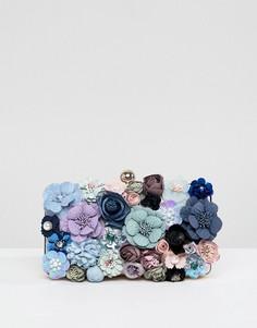 Клатч с цветочной 3D-отделкой Chi Chi London - Мульти
