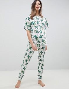 Пижамный комплект из леггинсов и футболки с принтом ASOS DESIGN Maternity - Мульти