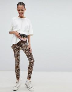 Леггинсы с леопардовым принтом New Look - Коричневый