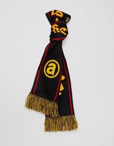 Черный шарф с камуфляжным принтом AAPE By A Bathing Ape - Черный