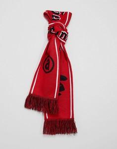 Красный шарф с камуфляжным принтом AAPE By A Bathing Ape - Красный