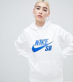 Худи белого цвета с логотипом Nike Sb - Белый