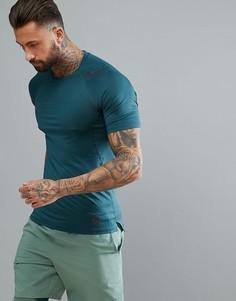 Зеленая приталенная футболка Nike Training Pro Hypercool 887109-328 - Зеленый