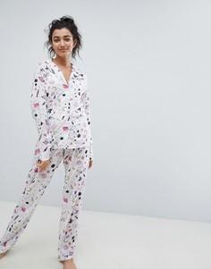 Пижама с принтом из 100% модала ASOS DESIGN - Мульти