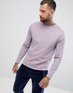 Розовый меланжевый свитшот ASOS DESIGN - Розовый