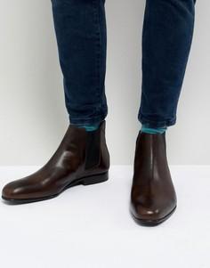 Кожаные коричневые ботинки челси Ted Baker - Коричневый