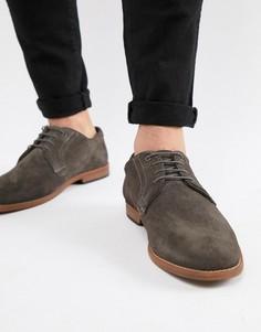 Серые замшевые туфли в стиле casual от ASOS DESIGN - Серый