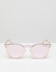 Солнцезащитные очки в круглой оправе Black Phoenix - Золотой